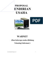Contoh Proposal Usaha Warnet