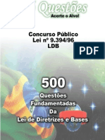 500 questões da lei de diretrizes e bases