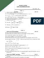 Model Paper 1 Maths6