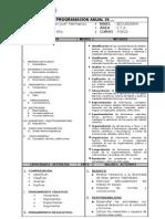 modelo T de programación anual