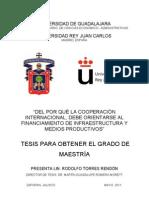 """Tesis """"Del por qué la cooperación internacional debe orientarse al financiamiento de infraestructura y medios productivos"""""""