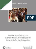 Informe sociológico sobre la encuesta del valor social de la Fundación Carolina