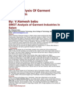 SWOT Analysis of Garment Industries In