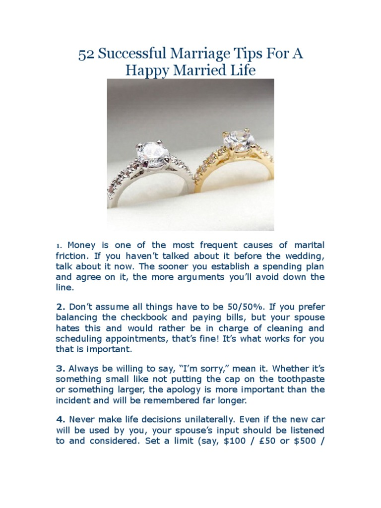 what makes a successful marriage