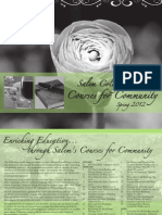 Salem College Courses for Community - Spring 2012