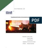Importancia del cobre en la economía nacional