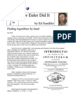 How Euler Did It 21 Log Tables