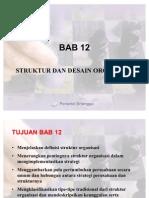 BAB 12 Strukture Dan Design Organisasi