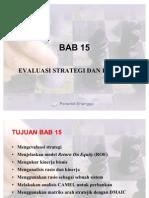 BAB 15 Evaluasi Strategi Dan Kinerja