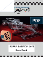 Supra Rule Book 2012