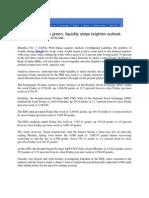 Thaindian_Nov 1, 2008_Markets End Week Green, Liquidity Steps Brighten Outlook