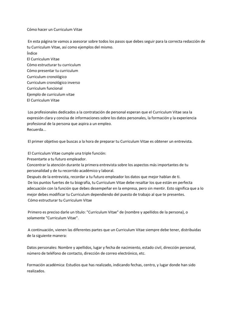 Fantástico Ejemplos De Curriculum Vitae De Carrera Patrón - Ejemplo ...