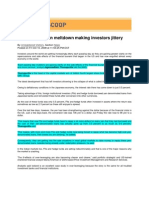 Blog Coveage_Noida Scoop_Oct 10, 2008_Greater Clarity on Meltdown Making Investors Jittery