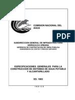 Especificaciones CONAGUA