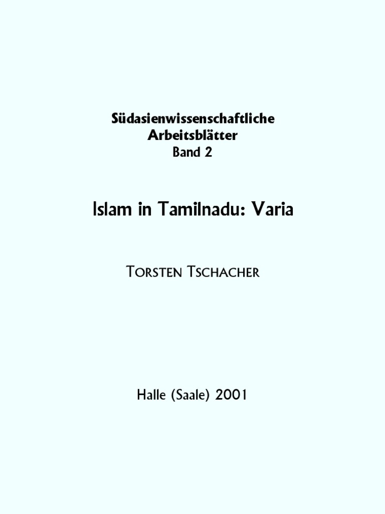 Islam in Tamilnadu   Arabic   Tamil Language