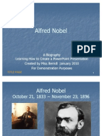 Biography Power Point Project SAMPLE Alfred Nobel