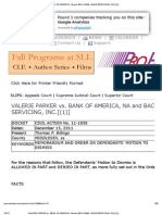 Valerie Parker vs. Bank of America, Na and Bac Home Loans Servicing, Inc