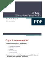 Módulo I - TEORIAS DA COMUNICAÇÃOx