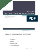 Módulo II - ESTILOS DE COMPORTAMENTO INTERPESSOALx