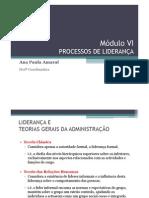 Módulo VI - PROCESSOS DE LIDERANÇA