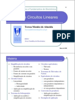 TCFE07082 5 Analise Circuitos Lineares