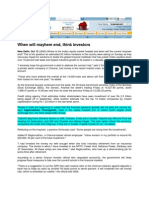 Manglorean News_Oct 13, 2008_When Will Mayhem End, Think Investors