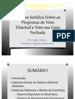 Análise Jurídica Sobre as Propostas de Voto Distrital_Slides