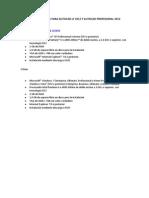 Requisitos de Sistema Para Autocad Lt 2012 y Autocad Profesional 2012