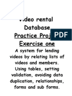 Video Rental Database Ex 1