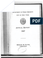 Excerpt From Dept of Public Markets Annual Report, 1927