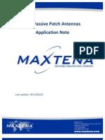 GPS Patch Antennas