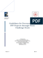 Guidelines for Procurement of PPP Projects through Swiss Challenge Route