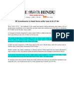 The Hindu_Oct 7, 2008_PE Investments in Listed Firms Suffer Loss of $1.27 Bn - Report