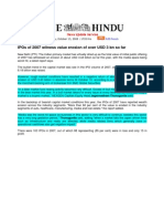 The Hindu_Oct 13, 2008_IPOs of 2007 Witness Value Erosion of Over USD 3 Bn So Far