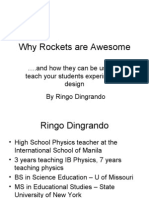 Why Rockets Are Awesome, An EARCOS Presentation