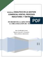 Gestion de Procesos de Ventas, Inductores, Metricas y Efectividad