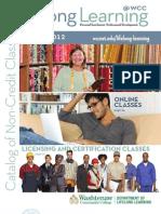 Washtenaw Community College Winter 2012 Catalog of Non-Credit Classes