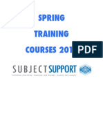 Spring Course Flyers 2011
