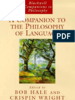 Esencialismo - a Companion to Philosophy of Language