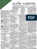New Zealand Gazette 21 August 1839