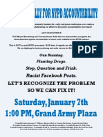 New Year's Rally for NYPD Accountability