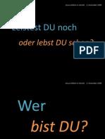 Wer bist DU? (Predigt EFG Herold, 2.11.2008)