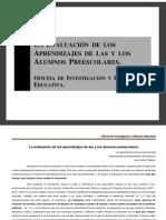 EVALAUCION DE LOS NIÑOS Y NIÑAS PREESCOLARES. NIVELES DE LOGRO