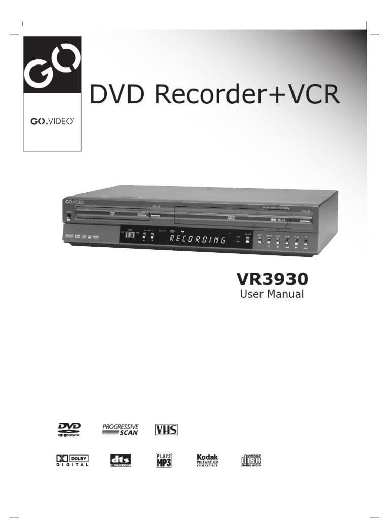 go video vr3930 user manual videocassette recorder dvd rh scribd com