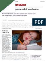 Cinco Pautas Para Escribir Con Buena Letra | EROSKI CONSUMER
