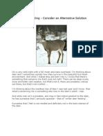 Winter Deer Feeding - Consider