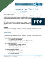 Programa Curso Staad Pro Avanzado