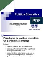 Política Educativa BM