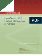 Open Source Web Content Management in Alfresco