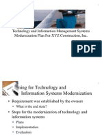 XYZ Construction Company Information Management Systems